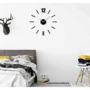 Designové nalepovací hodiny černé barvy