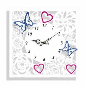 Designové nástěnné hodiny s ornamenty