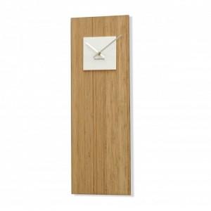 Bambusové hodiny s bílým ciferníkem