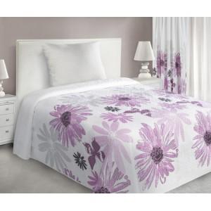Luxusní přehoz na postel s květinami