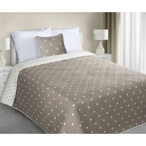 Šedé oboustranné romantické přehozy na postel