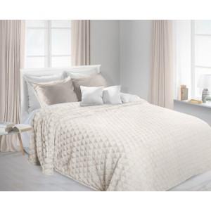 Luxusní chlupaté deky krémové barvy