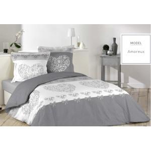 Bavlněné povlečení na postel v šedé barvě