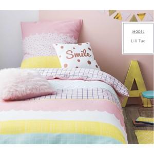 Dívčí růžové povlečení na postel