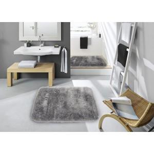 Světle šedý koupelnový koberec