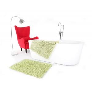 Světle zelené koupelnové koberečky