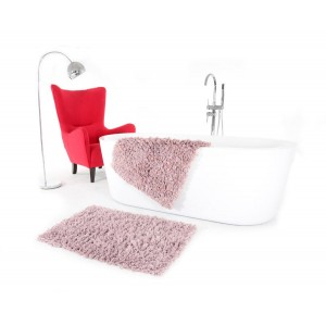 Růžová předložka do koupelny