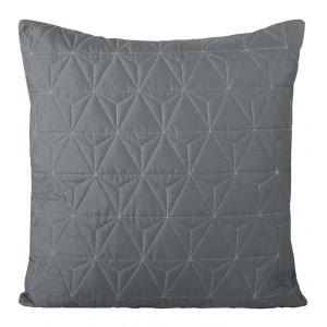 Prošívané povlečení na polštář v šedé barvě