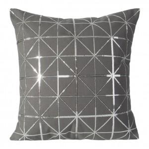 Luxusní šedé povlečení na polštář