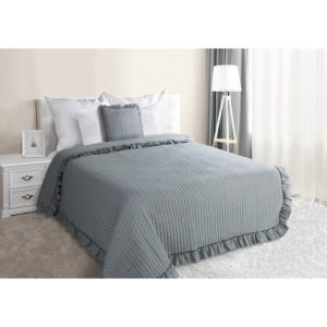 Šedé prošívané přehozy na manželskou postel