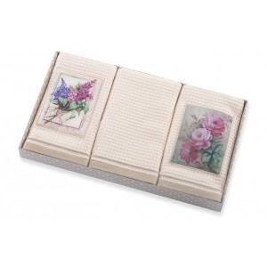 Květovaný kuchyňský set ručníků