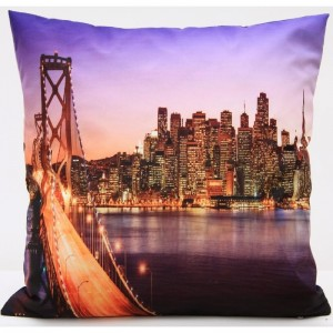 Luxusní povlak na polštář s motivem New York