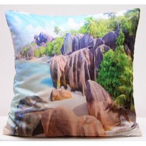 Barevné povlaky na polštář s motivem sluneční pláže