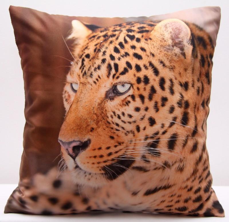 Hnědý povlak na polštáře s motivem geparda