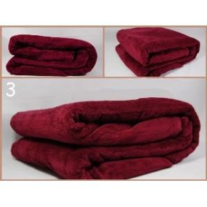 Deky na postele bordó barvy