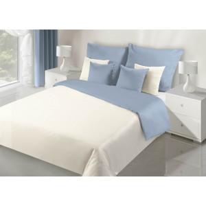 Krémově modré oboustranné ložní prádlo