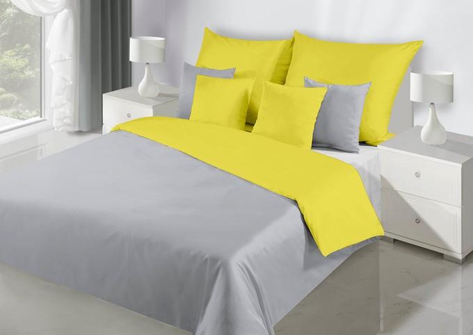 Pohodlné oboustranné ložní prádlo v šedě žluté barvě
