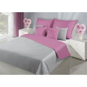 Elegantní oboustranný ložní povlečení v růžovo stříbrné barvě