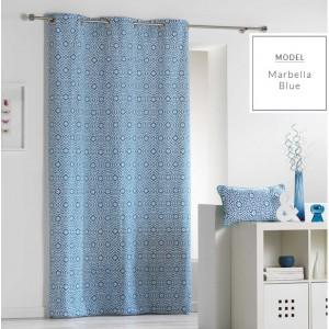 Dekorační závěsy ve skandinávském stylu modré barvy