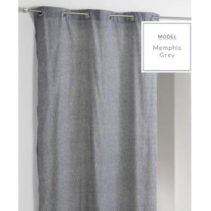 Skandinávský závěs v šedé barvě