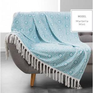 Hřejivá deka s potiskem mentolové barvy