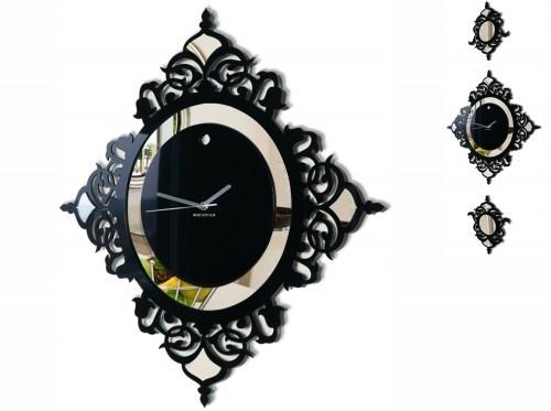 Černé nástěnné hodiny do ložnice