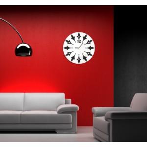 Kulaté hodiny na stěnu bílé barvy