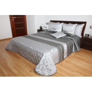 Elegantní stříbrné přehozy na postel s květinovým vzorem