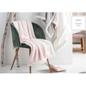 Růžové francouzské deky s bílým lemováním