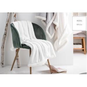 Francouzská dekorační deka bílé barvy