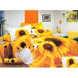 Povlečení bílo žluté barvy s motivem slunečnic