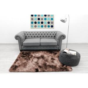 Ombre plyšový koberec hnědé barvy