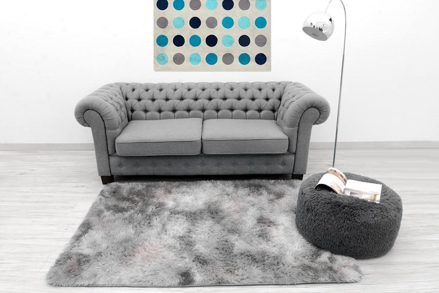 Ombre plyšové koberce světle šedé barvy 140 x 200 cm