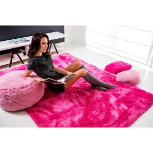 Hebké plyšové koberce růžové barvy