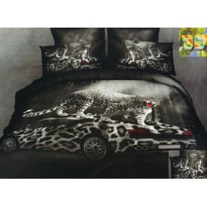 Černá ložní souprava s Gepard a autem