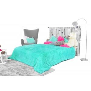 Luxusní plyšová deka tyrkysové barvy