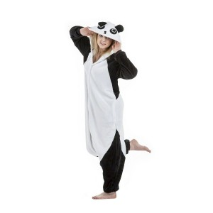 Černo bílý kigurumi overal s motivem pandy