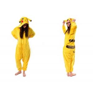 Kigurumi overal na spaní s motivem pikachu ve žluté barvě