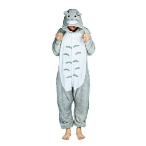 Pyžamové overaly kigurumi v šedé barvě Totoro