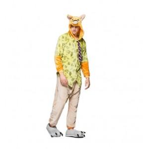 Pyžamové overaly kigurumi ve žluté barvě