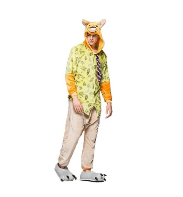 Pyžamové overaly kigurumi ve žluté barvě velikost L