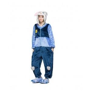 Modrý kigurumi overal s motivem králíka