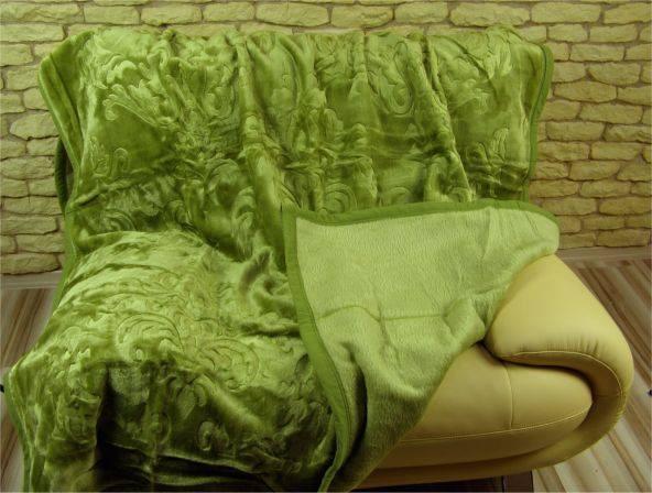Teplé Španělské deky zelené barvy