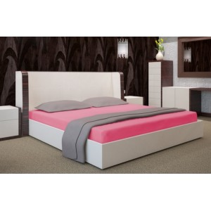 Bavlněná růžová plachta na postel