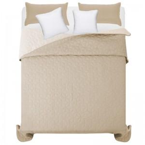 Béžové prošívané přehozy na manželskou postel
