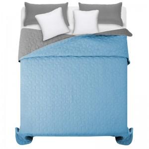 Oboustranné modro šedé přehozy na manželskou postel