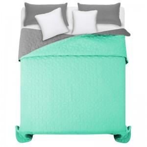 Světle zelený přehoz na manželskou postel s diamantovým vzorem