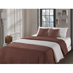 Luxusní prošívané přehozy béžovo hnědé barvy