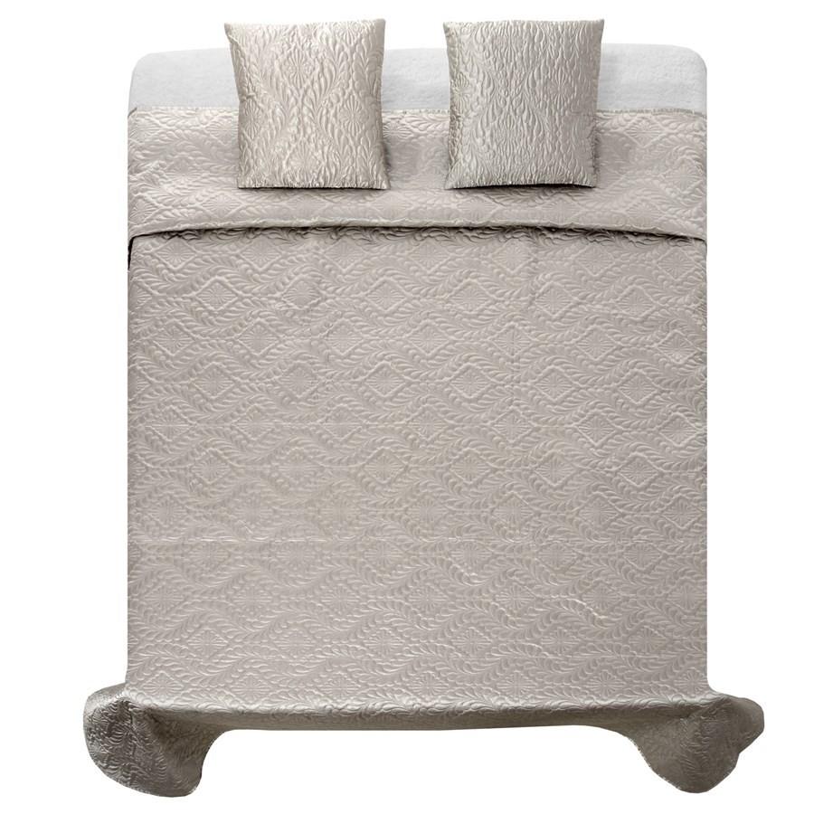 Luxusní saténové přehozy na postel v stříbrno šedé barvě 220 x 240 cm