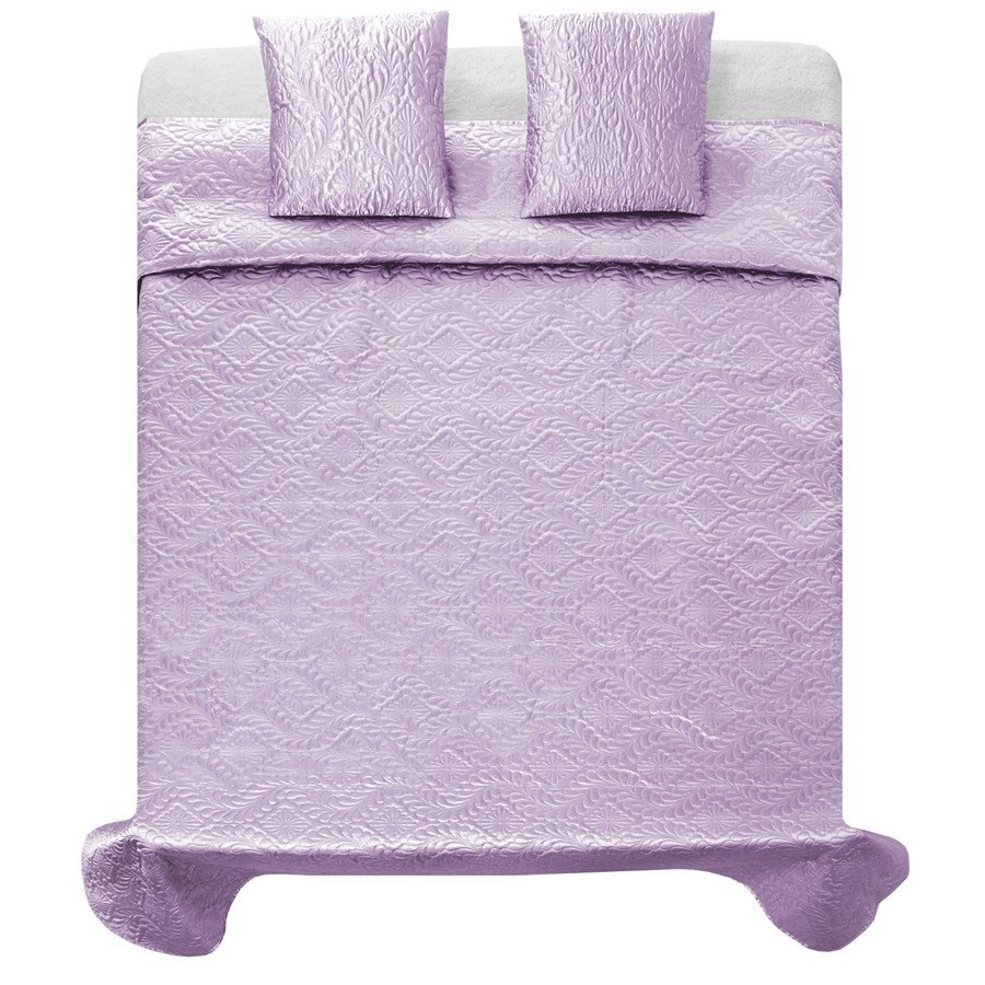 Elegantní světlo fialové přehozy na postel 220 x 240 cm
